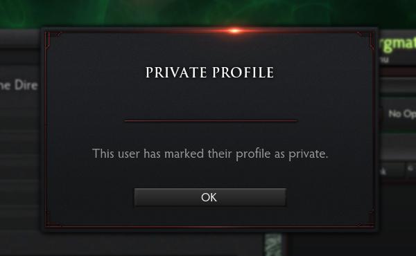 Как скрыть или открыть профиль в Dota 2